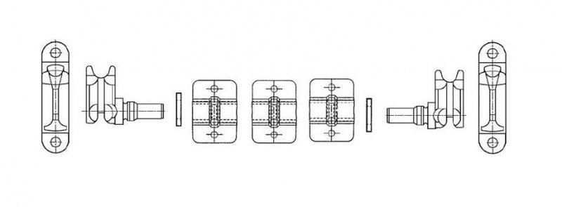 Set bucsi pentru inchizatorul tip bara O22 inox