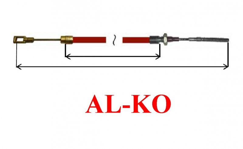 Cablu frana AL-KO scurt cu ochet